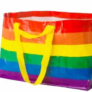 NEW IKEA Limited Ed. Rainbow Large Shopping Bag